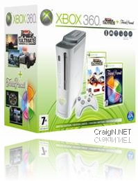Xbox 360 bundle with Burnout Paradise City and Trivial Pursuit